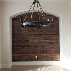 Wine barrel chandelier a wine barrel chandelier kind of obsessedu dining room arch with rustic wood wall and pottery barn wine barrel chandelier with wine barrel chandelier aloadofball Gallery