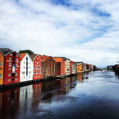 My hometown <3 #home #trondheim #nidelva #norway