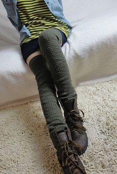 Chunky Wool Blend Leg Warmers - long leg warmers, knee high socks, boot  socks, knit leg warmers, wool leg warmers, chunky leg warmers, gift