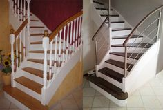 Avant - Après | Escalier et sa rambarde sur mesure