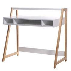 Générique Bureau Stan 100 cm Blanc / Bois
