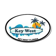 Key West - Surf Design. Decal on CafePress.com