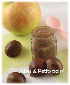 Recette pour bébé de compote pomme châtaignes - Cubes & Petits pois