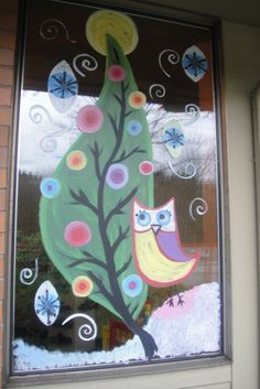 signed up at work to paint one of the windows. let's hope i win that gift basket!