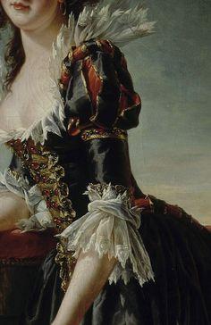 Madame Louise-Elisabeth with her two year old son (detail),  Adélaïde Labille-Guiard.  1788, oil on canvas.  Antichambre de la reine,  Palace of Versailles.