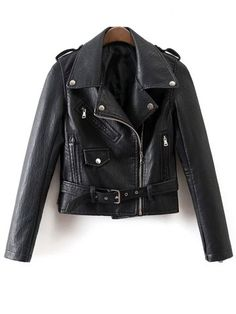 GET $50 NOW | Join RoseGal: Get YOUR $50 NOW!http://www.rosegal.com/jackets/side-zip-placket-pu-leather-745363.html?seid=7132135rg745363