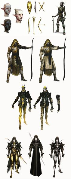 The Temple of Mythal Keepers concept art in The Art of Dragon Age: Inquisition