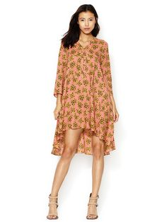 African Floral High Low Dress by Thakoon Addition at Gilt