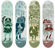 Alien Workshop   Skateboard graphics  Skateboarding  Anthony Yankovic, via Behance