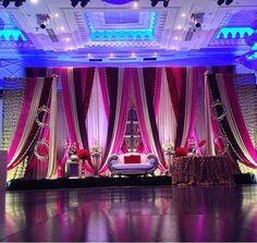 Reception stage Decor for a desi wedding