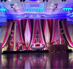 Reception stage Decor for a desi wedding