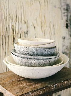 Perfectly imperfect pottery by Janaki Larsen. Larsen hopes her work looks like it transcends time with a story. I love the wabi-sabi look of her pieces–to find the beauty in imperfections.