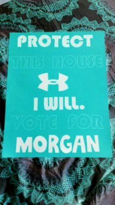 Student council campaign poster #underarmour