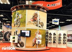 Nimlok builds and designs trade show booths and exhibits. For Allwin Powersports we created a large-scale booth solution to showcase their brand and products.