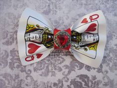 Queen of Hearts playing card hair clip by CreativelyEverAshley