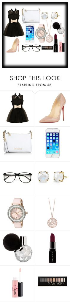 """""""Billonaire Outfit"""" by emojiqveen ❤ liked on Polyvore featuring Christian Louboutin, Michael Kors, Irene Neuwirth, Ted Baker, Effy Jewelry, Smashbox, MAC Cosmetics and Forever 21"""