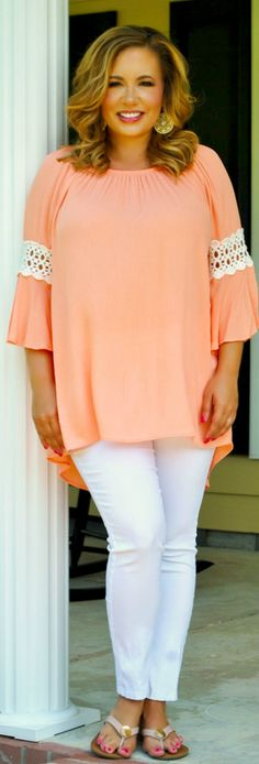 Perfectly Priscilla Boutique - Everything Is Just Peachy Top, $37.00 (http://www.perfectlypriscilla.com/everything-is-just-peachy-top/)
