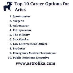 Best career options for aries