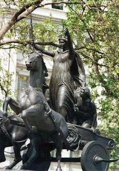 A statue of Boudica, from Photos.com/ThinkStock.