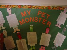 Children are asked to write a description of a pet monster that they have. This is a good activity for early in the year as you get back into writing paragraphs. In paragraph 1 they can describe their pet's physical characteristics.  In 2 they can tell about their pet's unusual habits, and in the 3rd they can describe what their pet does for fun. Be creative with this.