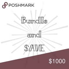 Bundle and save Make offers and save (within reason) Accessories