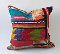 Vintage Turkish Kilim Pillow Cushion 16 X 16 40 cm by KilimRugArt