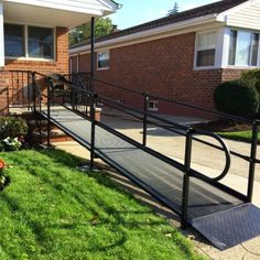 We are a trusted source for ramp rentals. Our wheelchair ramps are available in multiple variations including aluminum, wood, threshold & folding. Disabled Ramps, Mobile Home Steps, Green Roof Benefits, Handicap Ramps, Ramp Design, Access Ramp, Wheelchair Accessories, Outdoor Steps, Gardens