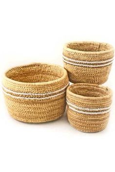 Nomadic Beaded Baskets - Large