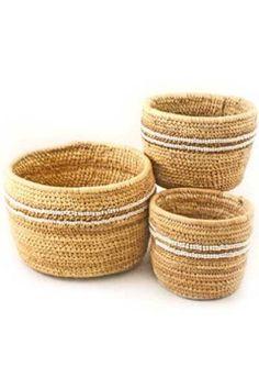 Nomadic Beaded Baskets - Large