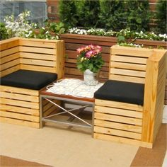 outdoor furniture made from pallets 17
