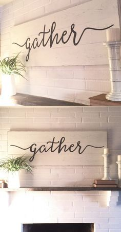 Do It Yourself Houseboat Strategies - Building Your Own Houseboat Gather Sign Rustic Wall Decor Wall Decor Gather Wood Sign Wood Signs Wooden Signs Farmhouse Sign Farmhouse Wall Decor Farmhouse Wall Decor, Rustic Wall Decor, Farmhouse Signs, Rustic Signs, Fall Wood Signs, Farmhouse Windows, Gather Wood Sign, Gather Signs, Craft Font