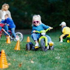 Wild Wheels Obstacle Course--Fun outdoor game for kids' birthday parties...set up obstacle course and ask each child to bring his or her favorite set of wheels.
