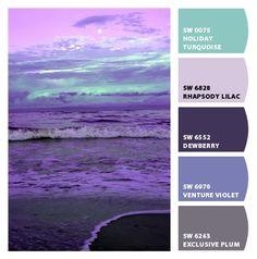 purple sunset color palette