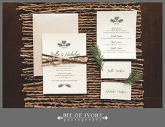 Holiday-Inspired Winter Wedding Invitations and Stationery