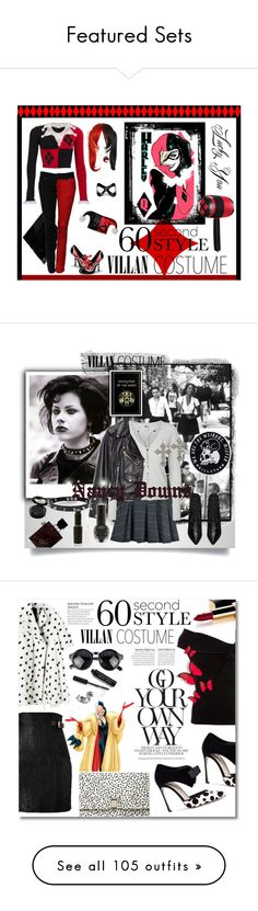 """""""Featured Sets"""" by polyvore ❤ liked on Polyvore featuring Masquerade, Funtasma, Halloween, 60secondstyle, villaincostume, BAILEY, Vero Moda, Pamela Love, Zara and Yves Saint Laurent"""