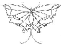 Large Tribal Celtic Butterfly