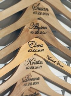 Create wood burned art for your home, customize anything, and get into pyrography with Walnut Hollow hot tools and wood burning tools. Custom wood burned hangers for wedding bride and groom and wedding party.