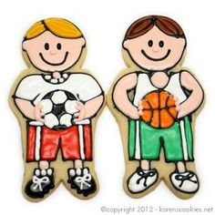 Image result for sweet sugarbelle boy soccer player cookies