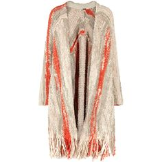 Free People Desert Daze Bouclé-knit Cardigan ($280) ❤ liked on Polyvore featuring tops, cardigans, striped knit cardigan, pink top, free people tops, knit cardigan and striped top