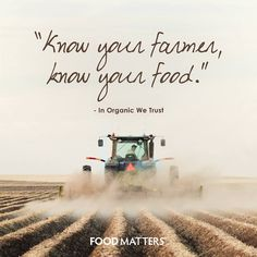 Do you know where your food is coming from?  www.foodmatters.tv