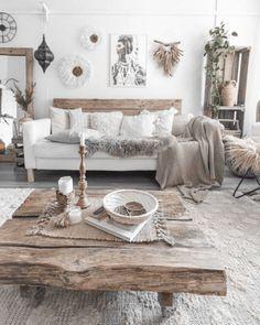 Boho Living Room, Home And Living, Bohemian Living, Bohemian Homes, Modern Living, Cozy Living Rooms, Small Living, Dining Rooms, Home Interior Design