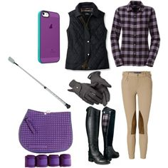 Purple riding outfit