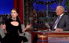 Anna Kendrick's interview onThe Late Show with David Letterman got a little weird on Tuesdaynight.