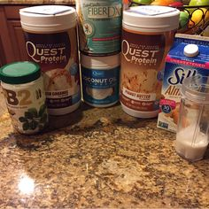 Mid- day Hunger pains? Bedtime snack? Or just sweet cravings? This Protein Pudding is my go to!! Protein pudding: - 1 scoop Quest protein (My fave combo is salted Carmel and PB!) - 1 scoop fiber Dx - 1TBS PB2 - 1 scoop Quest Coconut Powder - 4 ice cubes - 1/2 cup water or almond milk (can use less or more depending on Desired consistency. I like my thick like a pudding! ☺️) Put everything in blender and mix til desired consistency.