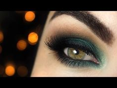 love the colours / emerald shadow for hazel eyes tutorial