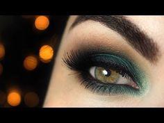 Tutorial maquiagem com sombra esmeralda