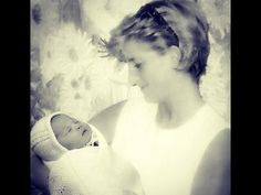 Beautiful manipulation of Princess Diana holding her lovely Granddaughter, Princess Charlotte.