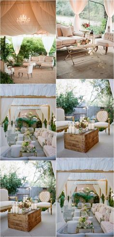 tented wedding reception lounge area ideas #weddingideas #weddingdecor #backyardwedding