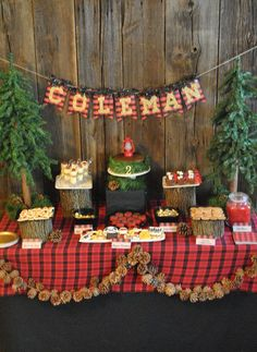 "Lumberjack, Camping / Birthday ""Little Lumberjack Birthday"" Lumberjack Birthday Party, Fall Birthday, 4th Birthday Parties, Birthday Bash, Birthday Ideas, Pirate Party, Camping Parties, Party Ideas, Camping Ideas"