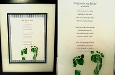 Foot print father day frame
